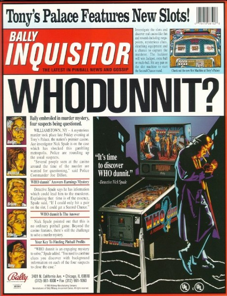 Who dunn it Flipper Pinball