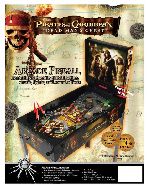 Pirates of the Caribbean Flipper Pinball